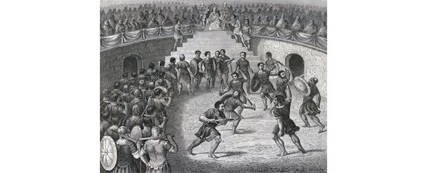 gladiatorenkämpfe mit löwen